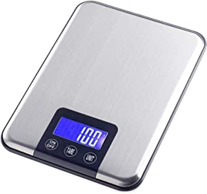 High Precision Electronic Scale Stainless Steel Jewelry Scales Electronic Food Scale with LCD HD Display for Factories Retail Outlet Store Kitchen Restaurant (Size : 10kg/1g) 921 (Size : 15kg/1g)
