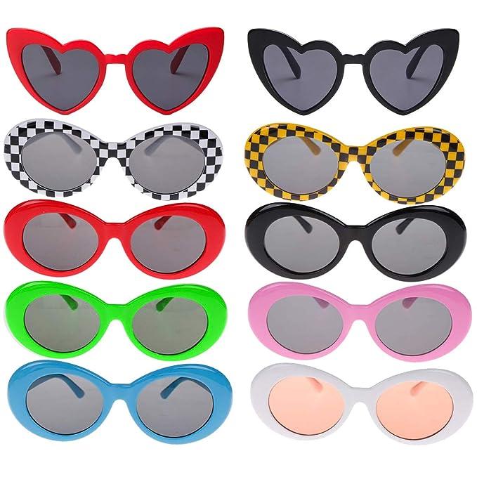 Amazon.com: Enthur 12 pares de gafas de sol retro Clout ...