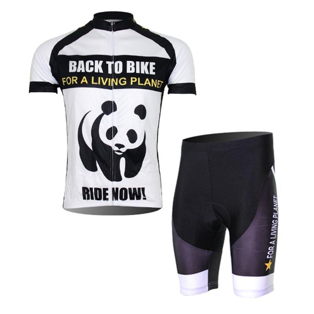 Free Fisherメンズ半袖サイクリングジャージーセット B00V5PVK5S XXL=US L/XL|Panda Set Non Bib Panda Set Non Bib XXL=US L/XL