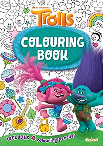 trolls colouring book t2 amazon co uk centum books ltd