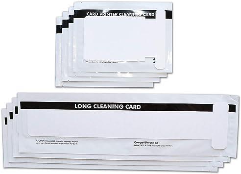 Amazon.com: Kit de limpieza para impresoras de tarjetas de ...
