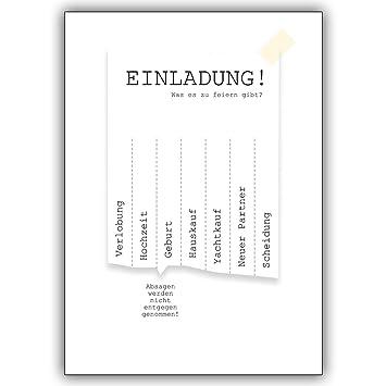 16 Hochzeitskarten 16er Set Coole Einladungskarte Zum Ankreuzen
