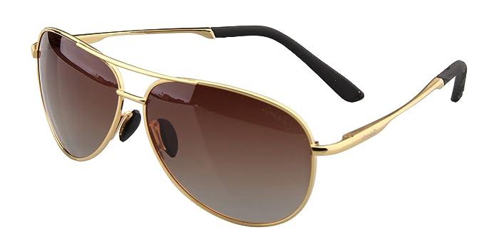 Sonnenbrille Herren Pilotenbrille Polarisiert UV Schutz Aviator Brille mit Metallrahmen Schwarz sXHvnrx