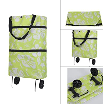 Foldable Shopping Trolley Bag Cart Eco Friendly Grocery Handbag Tote