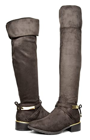 DREAM PAIRS HIGHLAND Women's New Fashion Over The Knee High Riding Boots