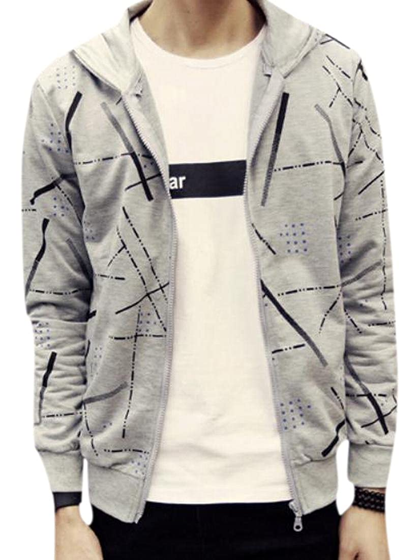 Honey GD Mens Full-Zip Jacket Slim Fit Long Sleeve Hoodies