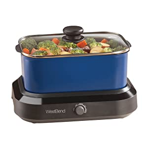 West Bend 5 Qt. Versatility CookerTM Blue
