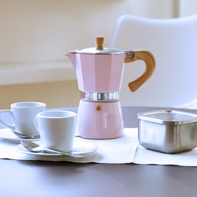 3 tazas, aluminio color rosa Cafetera de espresso Gnali /& Zani VEZ003//IND//PINK Venezia