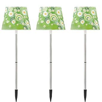 Beet Beleuchtung Led   3er Set Led Garten Beet Steck Lampen Solar Blumen Muster Aussen