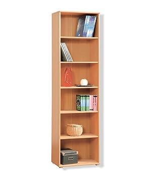 tempra tall narrow beech bookcase bookshelf home office furniture kr02127