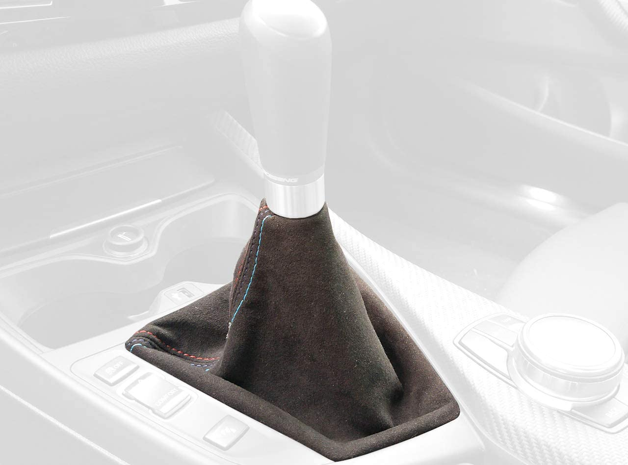 RedlineGoods Shift Boot Compatible with Porsche 911 Tan Leather-Black Thread 2005-12 997