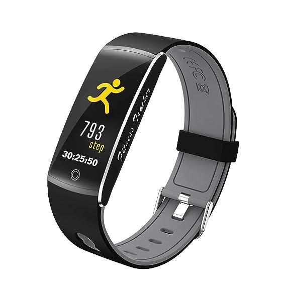Pulsera de Movimiento Inteligente Reloj Deportivo Resistente al Agua Reloj Inteligente F10 Reloj de sueño Multifuncional Podómetro Unisex: Amazon.es: ...