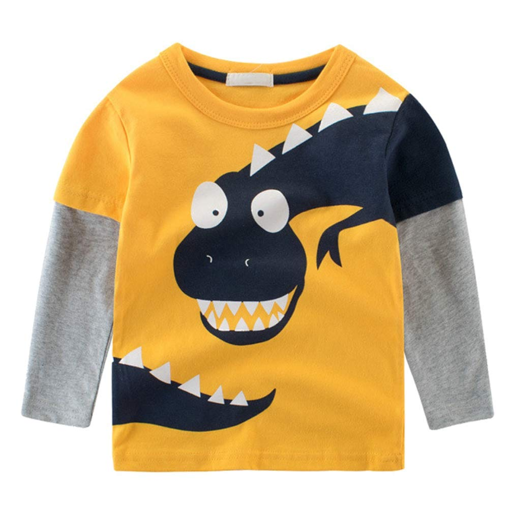 BAOBAOLAI Baby Boy Long Sleeve Dinosaur T-Shirt Cotton Sweatshirts Tops