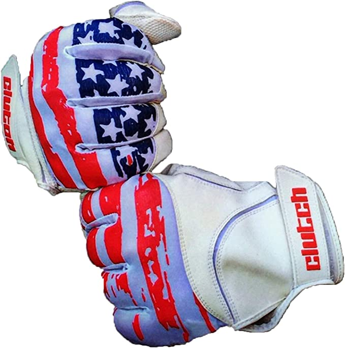 Red//White//Blue Digital Camo, Youth Large FullScope Sports Baseball Batting Gloves for Adult Boys Girls Youth Pro Softball Glove Ages 8-10 yrs Old