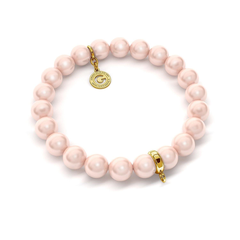 8bac9c546c19 GIORRE ¤ Nuevo Pulsera ElÁstica De Perlas (swarovski Pearl) Sobre 1 Charm ¤  Plata