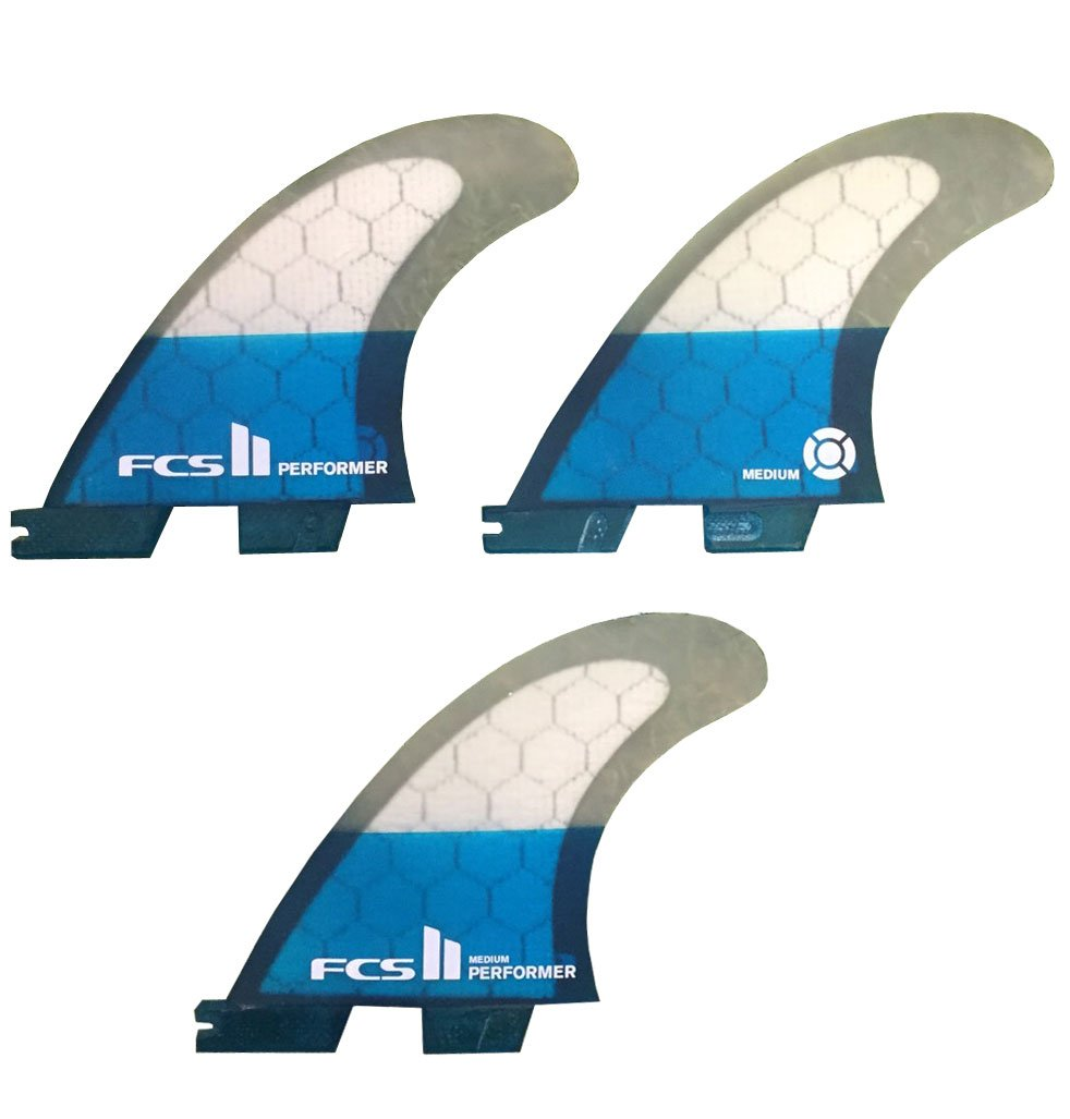 FCS2 PERFORMER MEDIUM PC 3フィン PC Tri Set パフォーマンスコア/ショートボード用 サーフィン   B07DBLKBGL