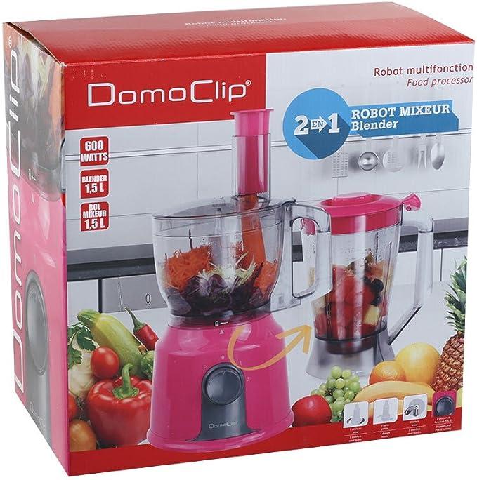 Domoclip DOP165F - Robot multifunción 2 en 1, color rosa: Amazon.es: Hogar
