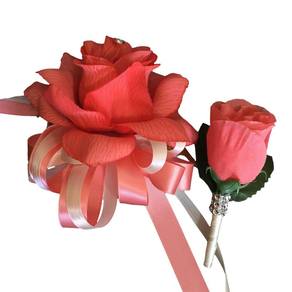 Amazon.com: 17pc Bridal Party Wedding Flowers-bouquet,corsage ...