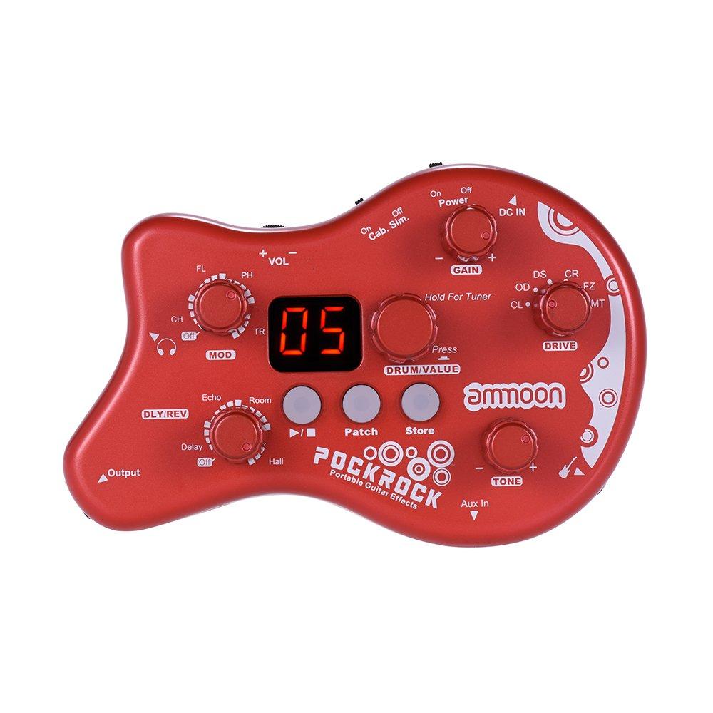 ammoon pockrock guitar multi effects processor effect pedal 15 effect types 40 drum rhythms. Black Bedroom Furniture Sets. Home Design Ideas