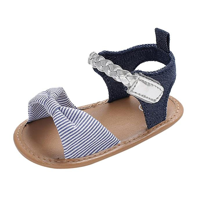 f2dd88b20cfdf Amazon.com: LNGRY Baby Sandals, Toddler Kids Baby Girls Weave Polka ...
