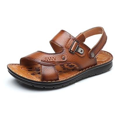 LEDLFIE Baotou Sandalen Strand Schuhe Mode SandalenBrown-39