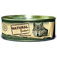 Natural Greatness Comida Húmeda para Perros de Pechuga de Pollo con Hígado y Vedruras. Pack de 24 Unidades. 156 gr Cada…