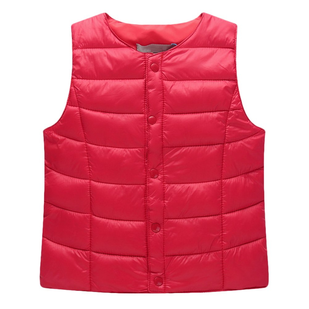 Zhhlinyuan Boy's Front Button Vest Children Sleeveless Jacket Child Kids Vest