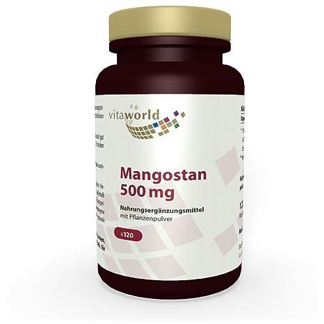 Mangostán 500mg 120 Cápsulas Vita World Farmacia Alemania - Antioxidante - Garcinia mangostana - Mangostino -