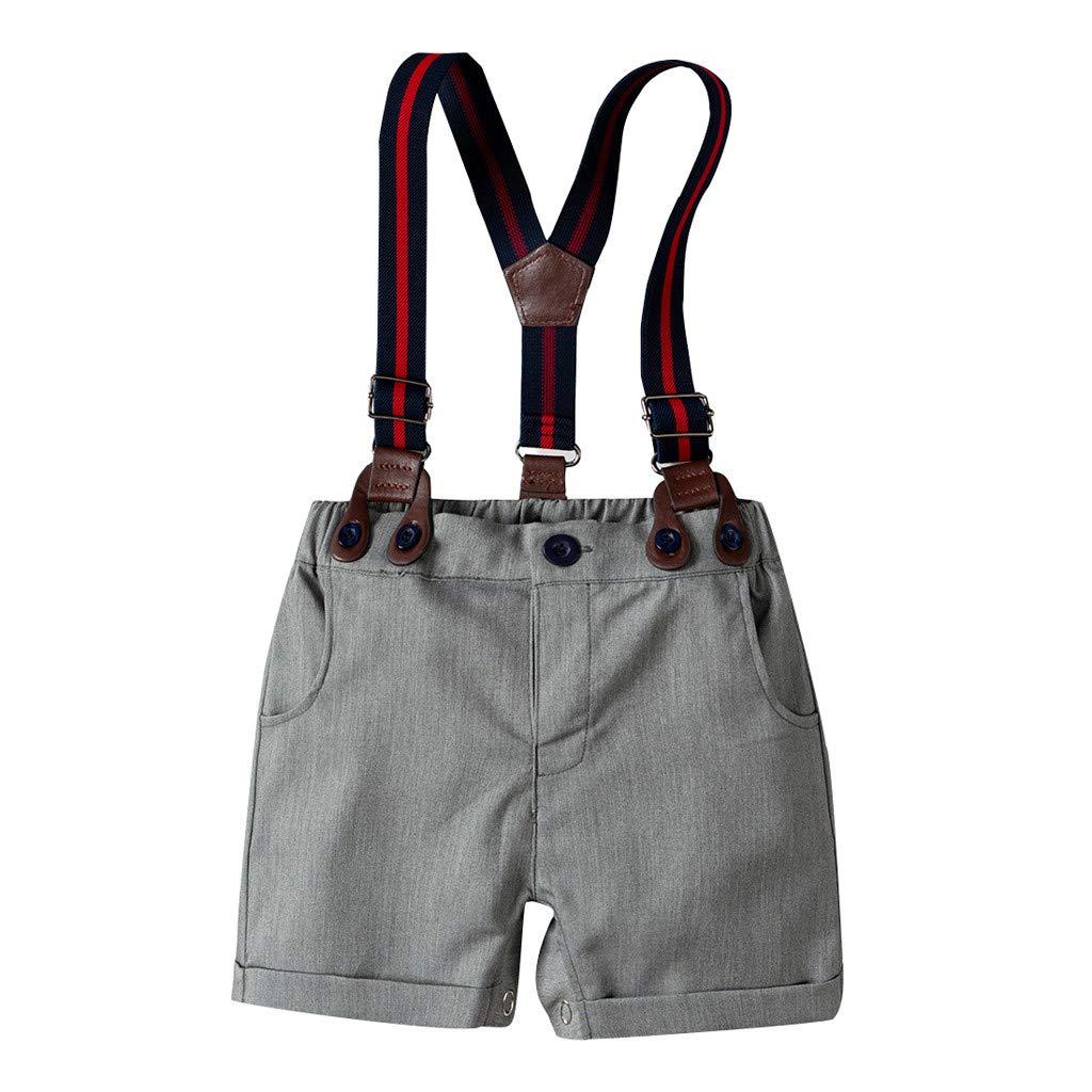 Strap Sets Shorts SIN vimklo Boy 3Pcs Short Sleeve Star Print Bow Tie Top