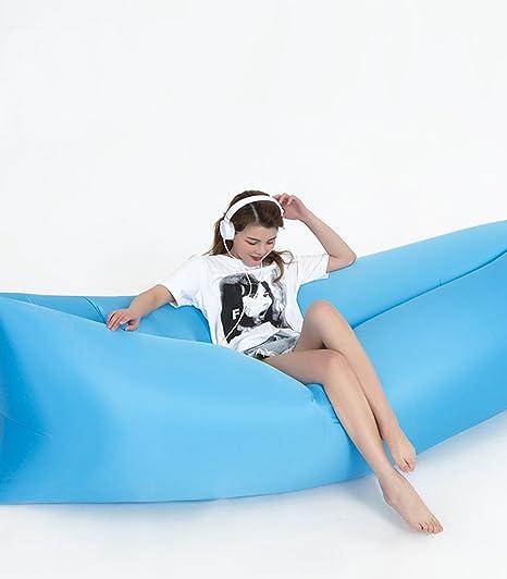 ZJYUAN - Saco de Dormir Hinchable de Aire Libre, portátil, Plegable