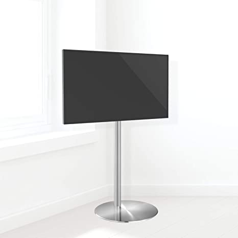 Cavus – FM120/50S – Diseño TV Soporte – 37 cm Diámetro del pie Redondo Acero Inoxidable – 120 cm SAULE Acero Inoxidable – VESA 200 x 200 – 19 de 32