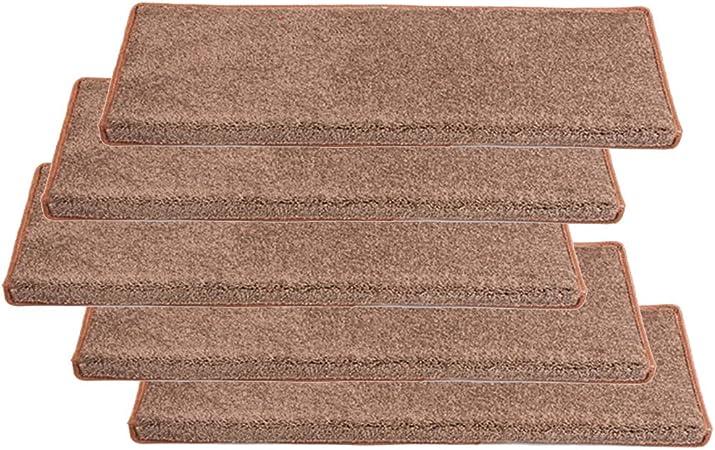 5-Pack alfombras para Escaleras Duraderas Suaves al Tacto Aislamiento AcÚStico Alfombra Escalera Seguridad Antiresbalones FáCil InstalacióN (Color:marrón,Size:24×90×3cm): Amazon.es: Hogar