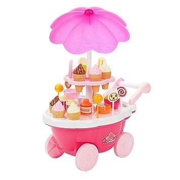 39pcs Juegos Juguetes Alimentos de Imaginación Crema Y Dulces Hielo Carrito Niños Niños: Amazon.es: Juguetes y juegos
