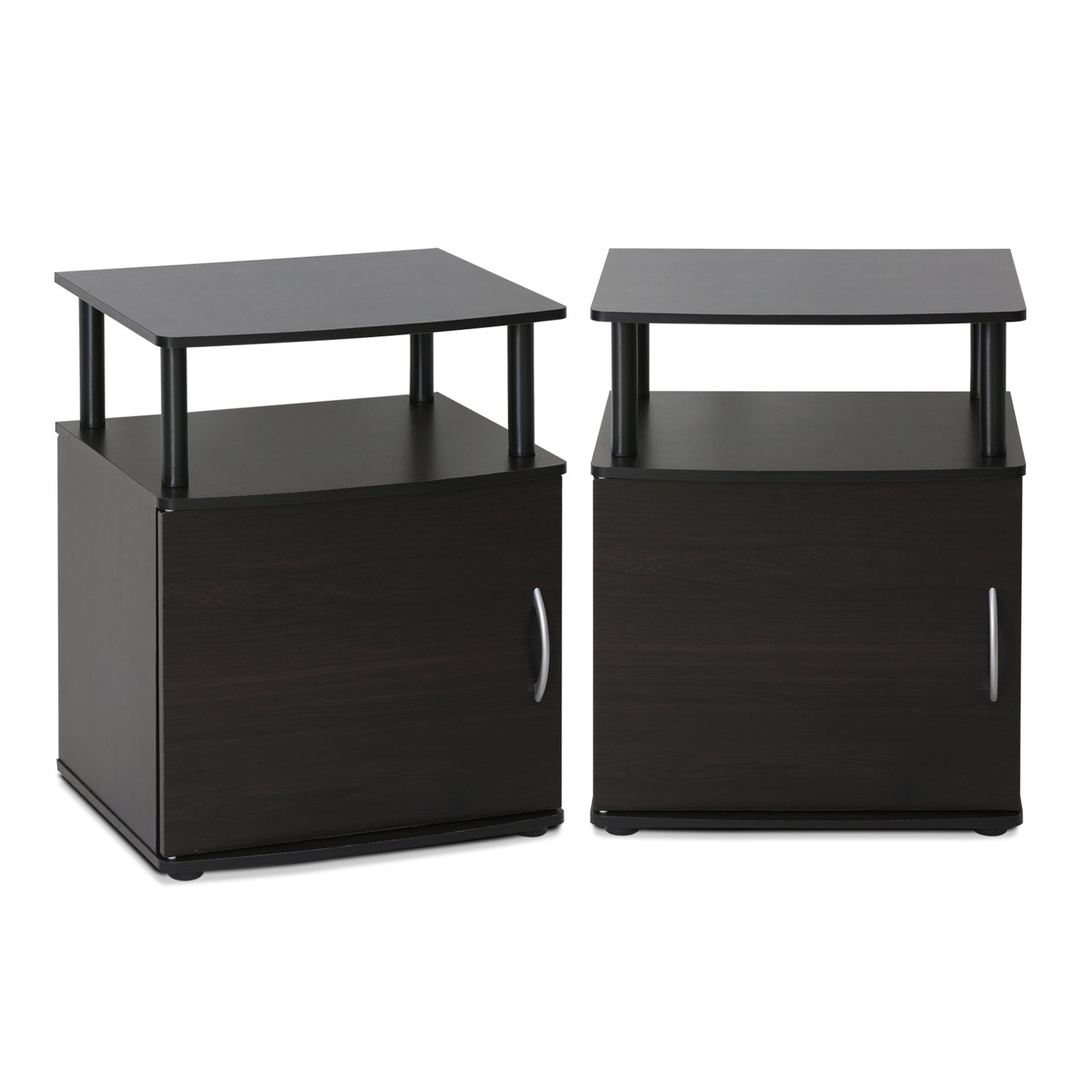Furinno 2-15114BKW End Table, Two, Black Wood by Furinno