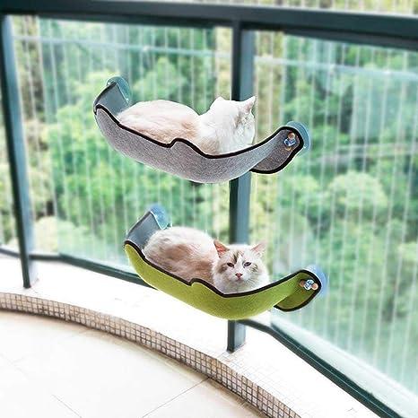 CHENGL Instalación de la Ventana del Gato Cama del Gato Ventana del Calamar Hamaca de Cristal