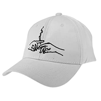 Amazon.com: Cotton Baseball Caps Hands Smoking Embroidery Adjustable Snapback Hat Design Dad Cap Gorras Casquette Unisex: Clothing
