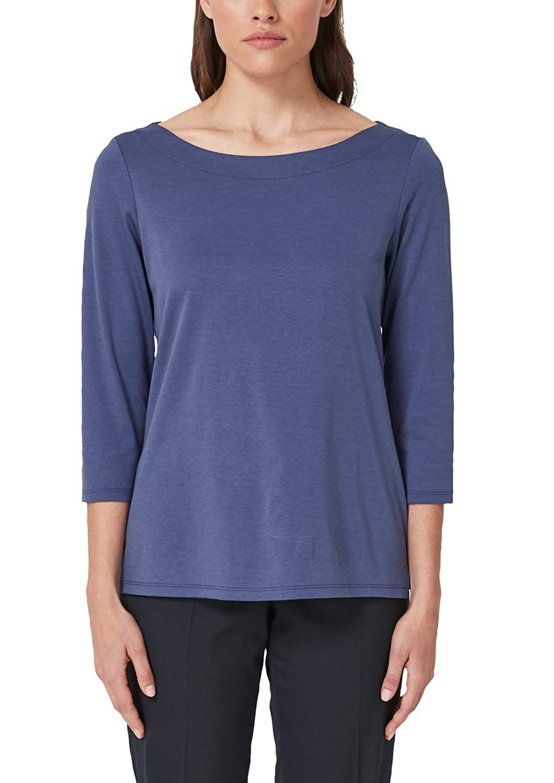 S.Oliver schwarz LABEL Damen Shirt aus Interlock-Jersey B07NZ2XYNC T-Shirts Echt