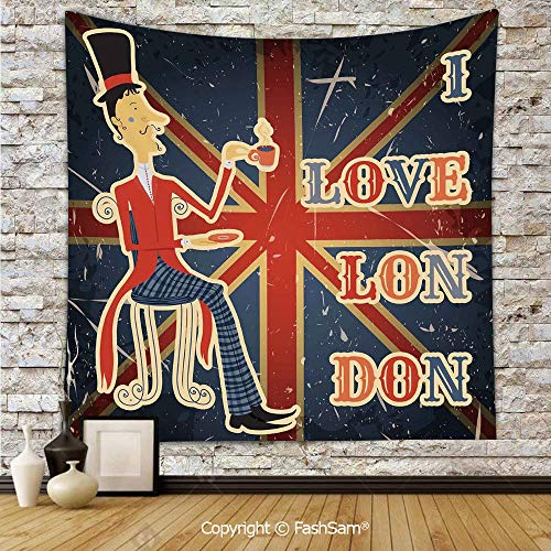FashSam Polyester Tapestry Wall I Love London Quote