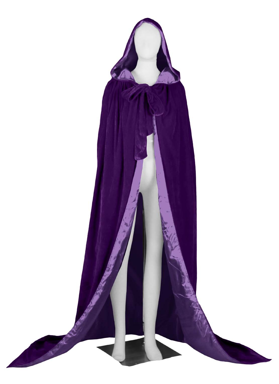 ANGELWARDROBE Hood Cloak Wedding Cape Wicca LOTR Wars Purple-Purple L