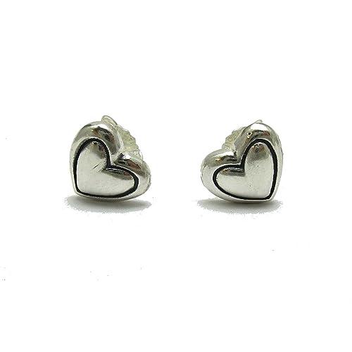Small Sterling Silver Brooch Flower Heart Genuine Solid Hallmarked 925 Empress