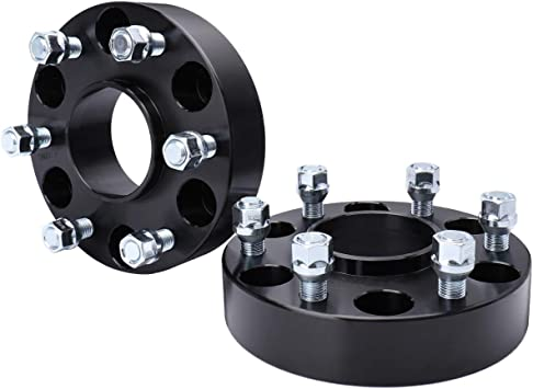 ECCPP 6 Lug hubcentric Wheel Spacers 1.5 inch 38mm 6x5.5 6x139.7mm 78.1mm bore 14x1.5 Studs Compatible with GMC Savana 1500 Chevy Express 1500 Cadillac Escalade ESV