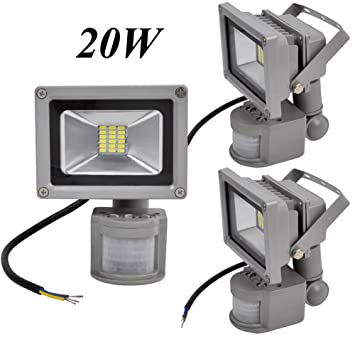 Pack 3pcs 20w cool whitewarm white led low energy flood light with pack 3pcs 20w cool whitewarm white led low energy flood light with pir aloadofball Choice Image