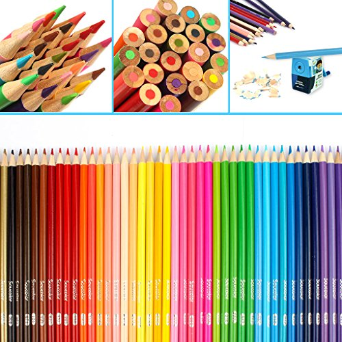 Soucolor 160 Colored Pencils Set Artist Drawing Coloring Pencils for Adult Coloring Books Art Projects by Soucolor (Image #1)