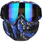 PiscatorZone Motorcycle Goggles Mask CS/Paintball/Skiing/Riding/Cycling/Halloween/Costume Ball-UV Proof Windproof Anti…