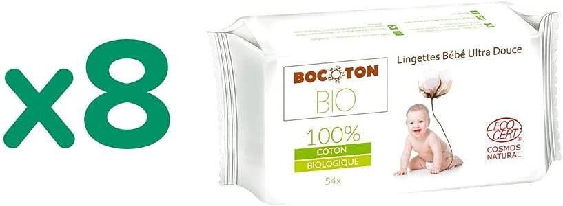 Pack 8x Toallitas de Bebé Bocoton 54 ud: Amazon.es: Bebé