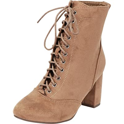 Cambridge Select Women's Lace-up Chunky Block Heel Victorian Ankle Bootie | Shoes