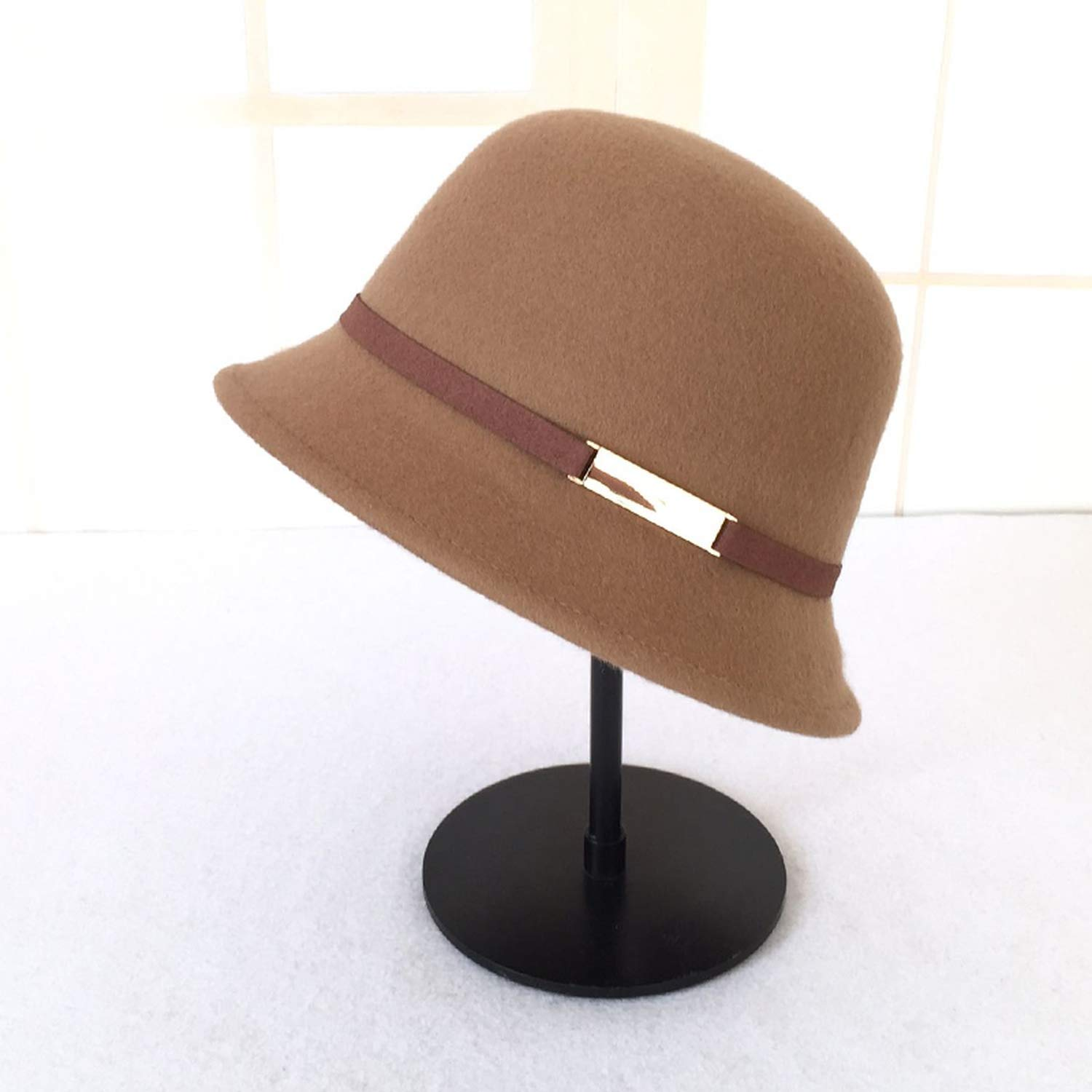 Rzxkad Lady Fedoras Wool Hat Female Winter Warm Dome Cap Students Leisure Woolen Fresh Hats Fedoras Cap New Year Gift