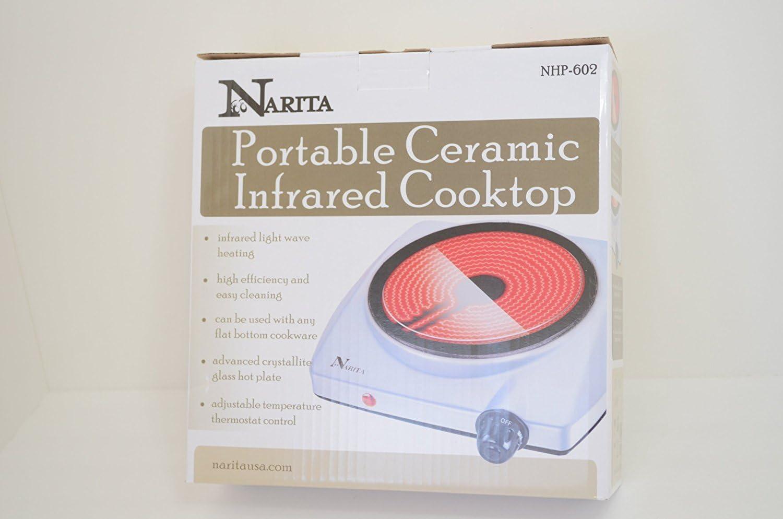 Narita Portable Ceramic Infrared Cooktop,(Single Burnner)