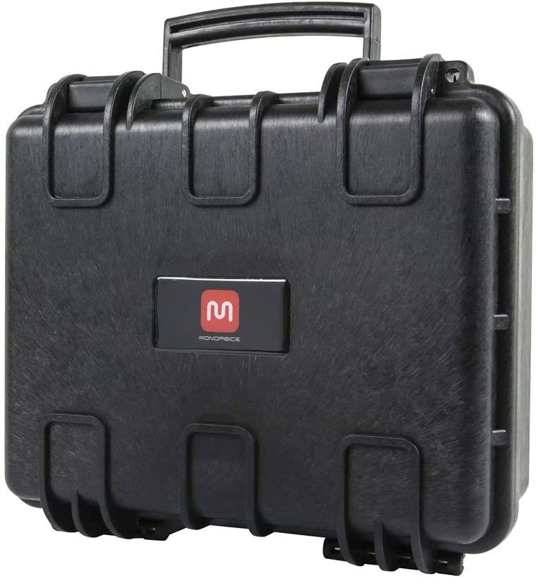 13 x 12 x 6 Black IP67 Level dust and Water Protection up to 1 Meter Depth with Customizable Foam Renewed Monoprice Weatherproof//Shockproof Hard Case