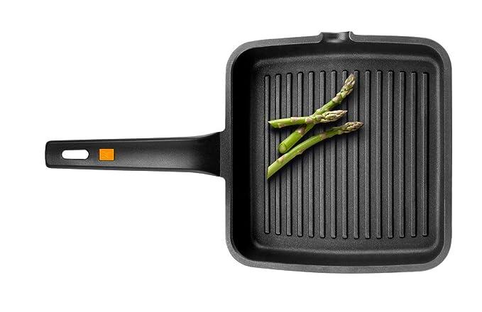 BRA Efficient - Grill Asador con Rayas, Aluminio Fundido con Antiadherente Platinum Plus, Apto para Todo Tipo de Cocinas Incluido Inducción, Libre de ...